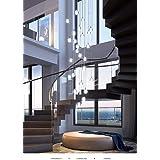 Crystal Chandelier Modern Pendant Light LED Raindrop Ceiling Lamp Crystals Ball Hanging Fixture Lighting 14-Light G4 Staircas