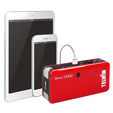 Telwin 829566 - Arrancador multifuncion de litio y Power bank, color rojo: Amazon.es: Amazon.es
