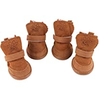 YILEGOU Dog Shoes Puppy Boots Snow Boots with Adjustable Straps Anti-Slip Sole Paw Protectors…