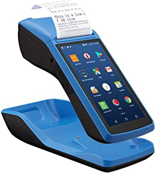 Amazon Com Losrecal Android Pos Terminal Receipt Printer Handheld Pda Receipt Printers With 5 Inch Touch Screen Bluetooth Wifi 3g Nfc Barcode Read Portable Printers Built In All In One Not Support Square Electronics