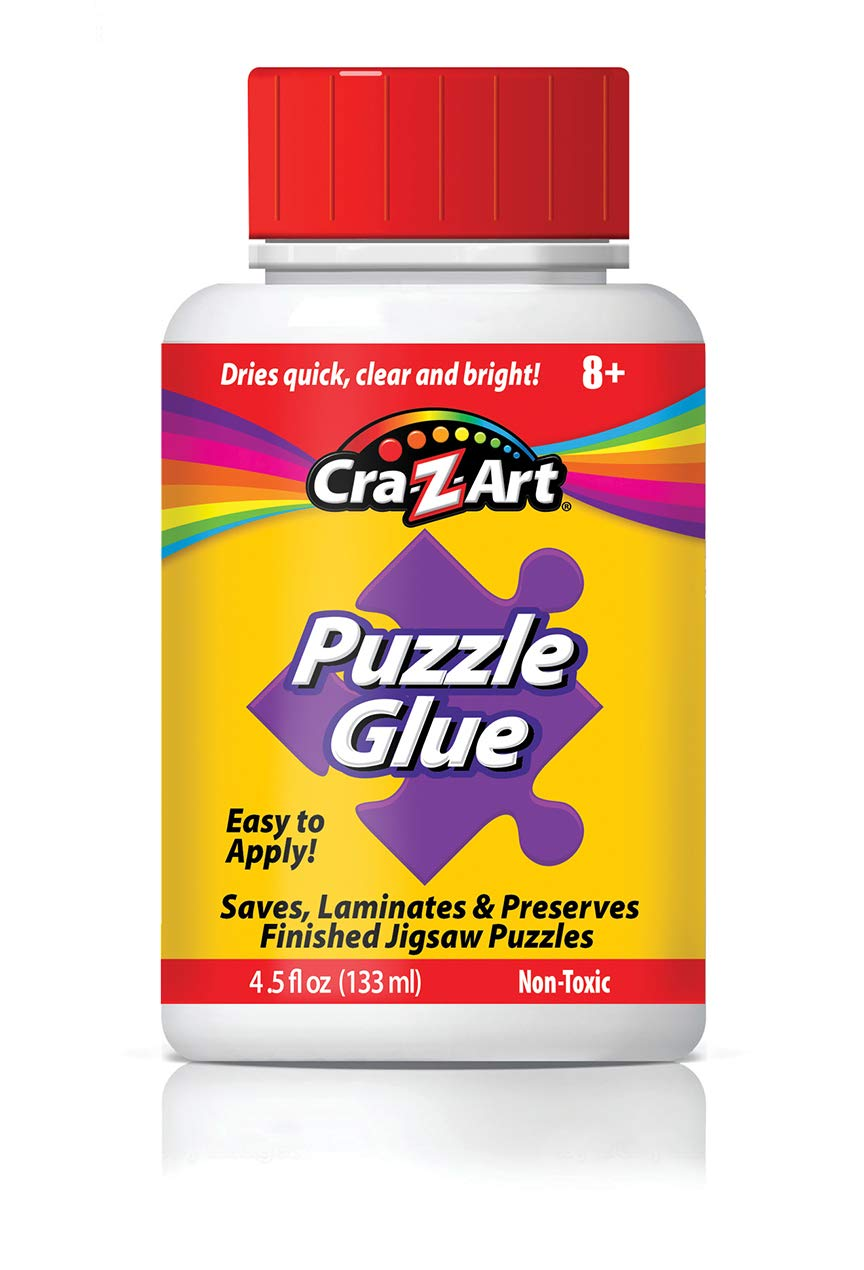 Jigsaw Puzzle Glue with Applicator Saves Laminates Preserves Finished Jigsaw Puzzles Easy to Apply Dries Quick Clear Bright