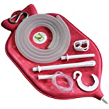 The Perfect Enema Bag Kit for Colon Cleansing With Silicone Hose (2 quart, open top) by HealthGoodsIn
