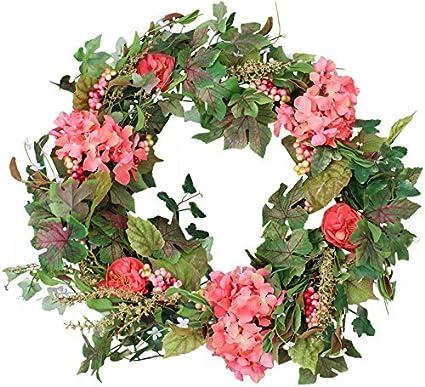 Belmont Silk Decorative Front Door Wreath 24 Inch   Year Round Beautiful Silk  Wreath Transforms Front Door ...