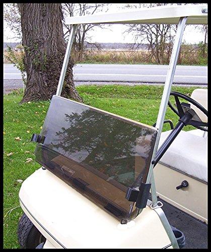 RecPro Yamaha G14/G19 TINTED golf cart Windshield with Folding (Acrylic Windshield)