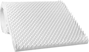 """Egg Crate Mattress Topper, Ventilated, Convoluted Foam for Pressure Sores and Pain Relief, Hypoallergenic, Medical Grade Urethane for Therapeutic Support and Recovery, Hospital Bed Twin (78"""" x 34"""")"""