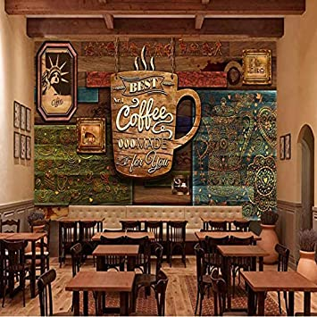 Custom 3D Photo Wallpaper European Retro Style HD Hand Drawn Cafe Background Wall Painting