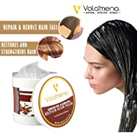 Volamena Argan Oil & Keratin Repair Hair Mask -250 ml,for Men/Women, Repairs Dry & Damaged Hair, Reduces Hair Fall Soothes and Moisturizes your Scalp, Deep Conditioner