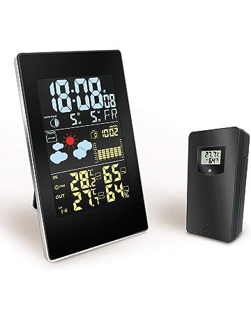 0ff4ccbcc Konesky Stazione Meteo Wireless, barometro termometro Temperatura Digitale  Interna umidità Esterna Temperatura con sensore Esterno