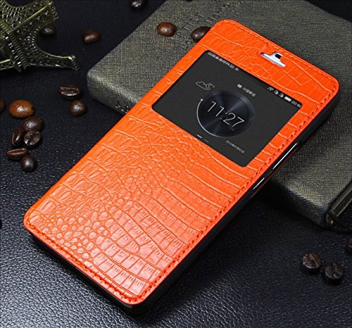 Xianghan® Luxury Genuine Leather Case for Huawei Honor 6 Plus Color Orange