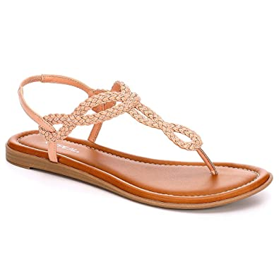 571464d9ef24 XAPPEAL Womens Akia Braided T Strap Thong Sandal Shoes