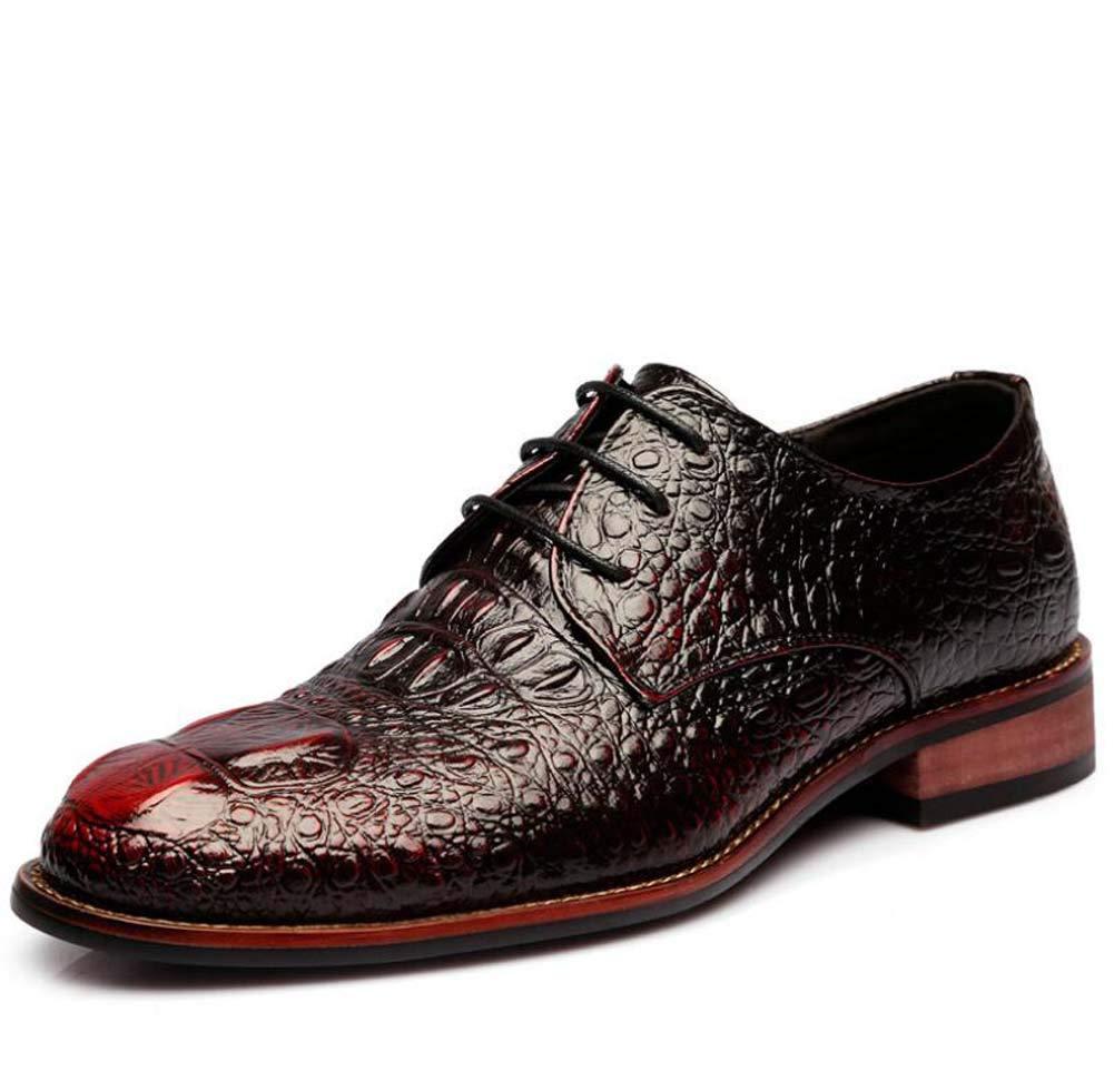 Rouge Hommes Pompe Affaires Casual Chaussures en Cuir Robe De Mariée Chaussures Modèle Crocodile Pointu Orteil Lacet Jusqu'à Moine Chaussures De L'ue Taille 38-43 42EU