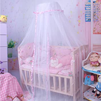 Baby Mosquito Net Toddler Bed Crib Canopy Netting Mosquito Soft Breathable Pink & Amazon.com : Baby Mosquito Net Toddler Bed Crib Canopy Netting ...