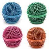 speaker grill mesh - Seismic Audio SA-M30Grille-BGOP Colored Replacement Steel Mesh Microphone Grill Heads, 4-Pack