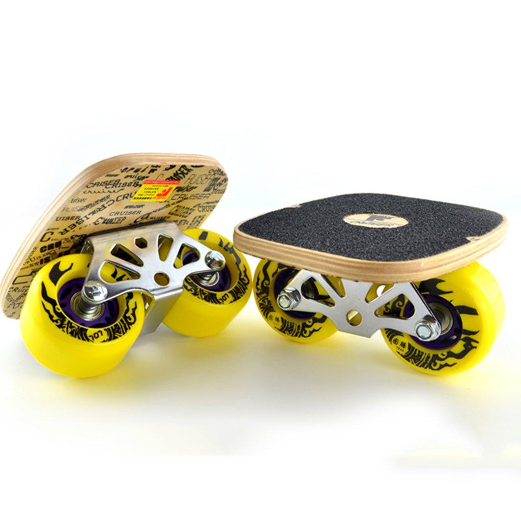 100 %品質保証 ドリフトボードフリーラインスケートフラッシュ大人の子供四輪スプリットスケートボード輸送道路スクラブ手塗りパターン Yellow B07FLW3MY8 B07FLW3MY8 Yellow Yellow Yellow, MIXON:afb39221 --- a0267596.xsph.ru