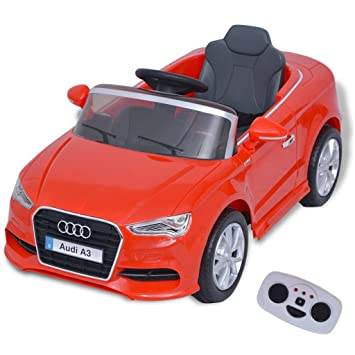 vidaXL Elektroauto mit Fernbedienung Audi A3 Weiß Kinderfahrzeug Kinderauto Batteriebetriebene Fahrzeuge
