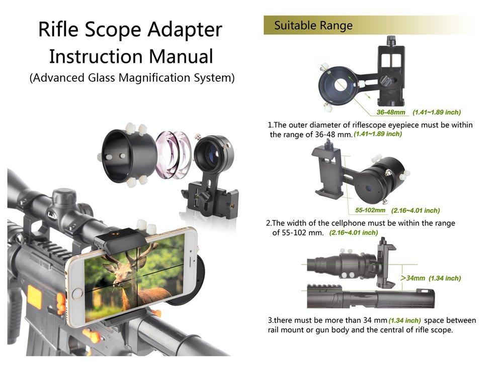 Landove Rifle Scope Smartphone Mounting System Smart Shoot Scope
