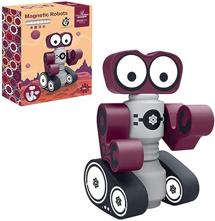 waterfaill Robots Magnéticos, Juego De Robots Apilables para Niños, Juego De Bloques Magnéticos, Juego Educativo para Niños: Amazon.es: Hogar