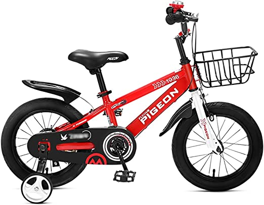 GAIQIN Durable Bicicleta para niños Bicicleta 3-4-6-7-8 años Freno ...