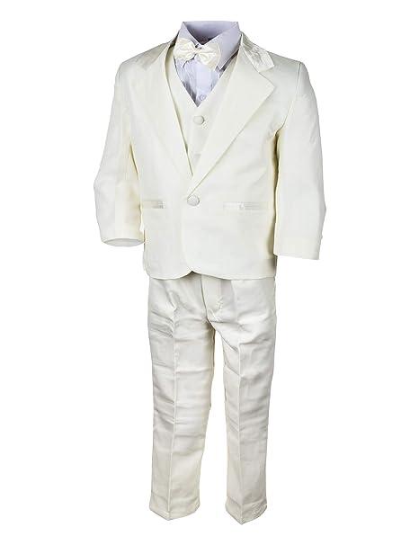 WEI KE XI Festlicher 5tlg. Jungen Anzug in Vielen Farben mit Hose, Hemd, Weste, Krawatte und Jacke