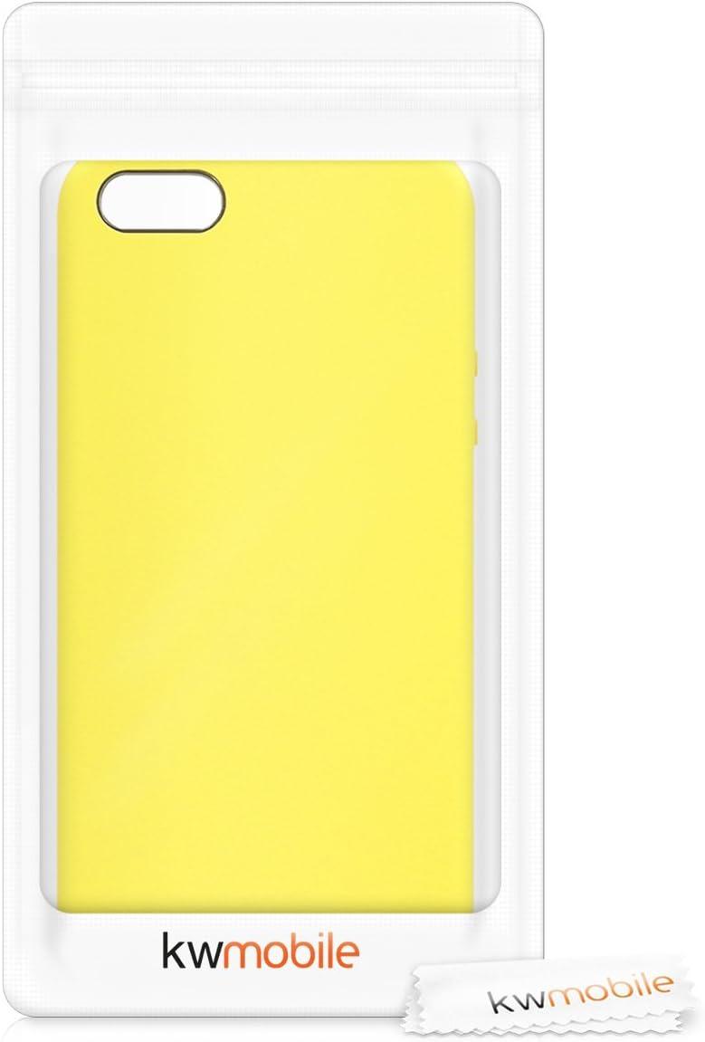 1.Gen 2016 Carcasa de TPU para m/óvil // 5 // 5S Cover Trasero en Lavanda Suave kwmobile Funda Compatible con Apple iPhone SE