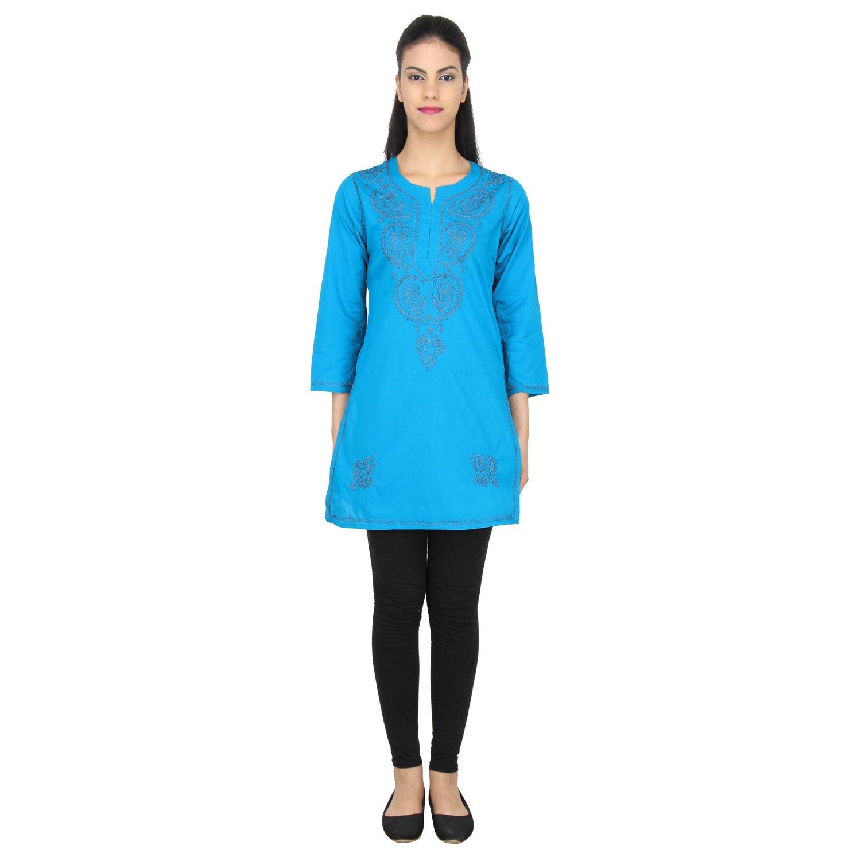 Zahi Butik Beach Dress Swimwear Bathing Suit Swimsuit Cover Ups Kaftan (Blue)