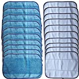 20-Pack Mixed Microfiber Mopping Cloths 10 wet + 10 dry for iRobot Braava 380 380t 320 Mint 4200 4205 5200 5200C Robot by Seed