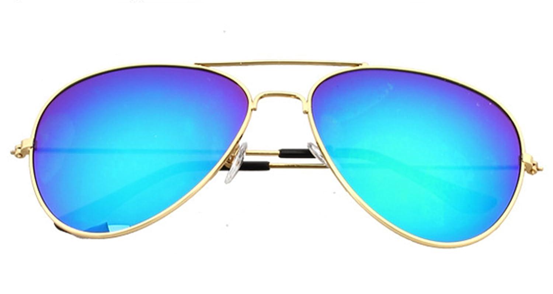 Gafas de 19931 sol Aviator unisex Moda Frame 80s Green Retro Shades ...