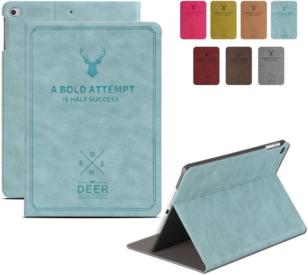 DuraSafe Case for iPad Mini 3 / Mini 2 / Mini 1 7.9 Inch [ A1432 A1454 A1455 A1489 A1490 A1491 A1599 A1600 ] Smart Cover Slim Folio, Auto Sleep/Wake - Deer Blue