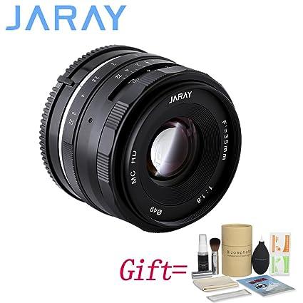 JARAY 35 mm f1.6 cámara sin Espejo Lente Fija Manual para Fujifilm ...