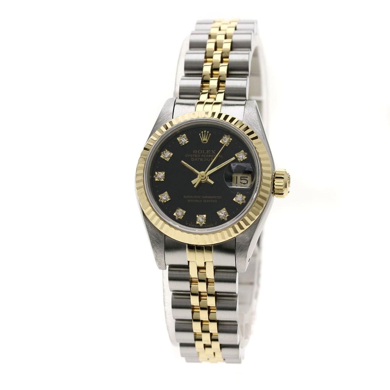 [ロレックス]デイトジャスト 10Pダイヤモンド 腕時計 ステンレススチール/SSxK18YG レディース (中古) B07F3N7HWN