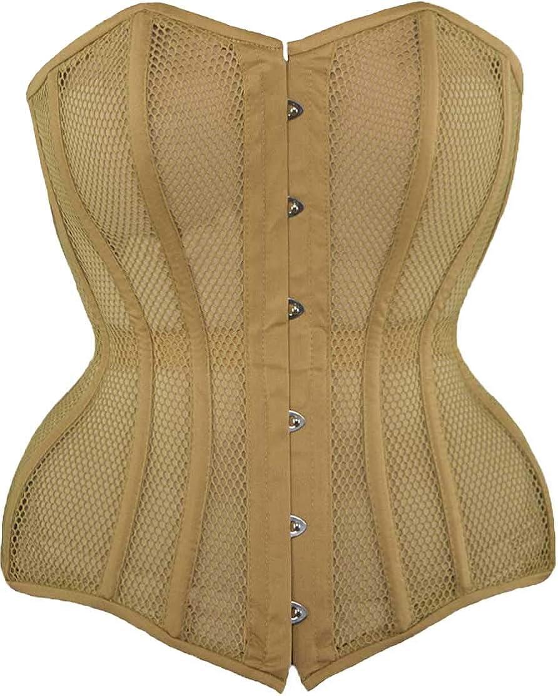 Neuf taffetas Lace up acier baleiné overbust corset top basque bustier taille Trainer