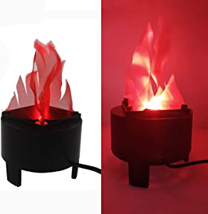 Halloween 3W Prop LED Fake Fire Flame Effect Lamp Torch Night Light Artificial 3D Campfire Lamp for Christmas Festival Event Party Club Decor (20cm -Table LED Flame Light)