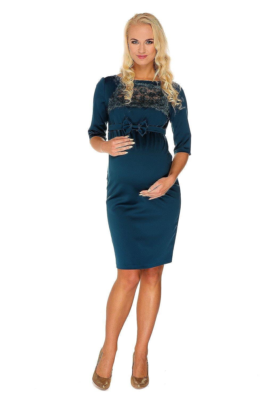 Mutterschafts Kleid Umstands Kleid Marion grün Spitze Schleife Umstandsmode von MY TUMMY ®©™