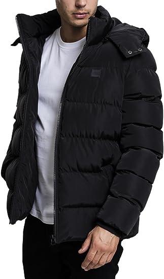 Urban Classics Herren Daunenjacke Winterjacke Hooded Puffer Jacket, Steppjacke gefüttert mit Kapuze