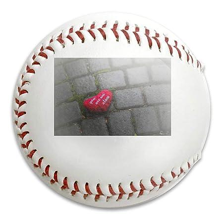 Fgcve Red-Love-Heart-Alone - Pelota de béisbol Suave con Burbujas ...