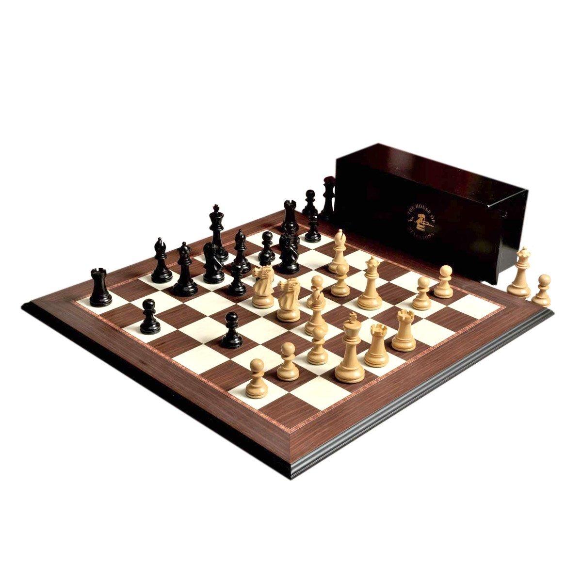 The House of Staunton ワイルドナイトシリーズ チェスセット ボックス ボードの組み合わせ 3.75インチ キング 黒檀 B01N7MFDUK