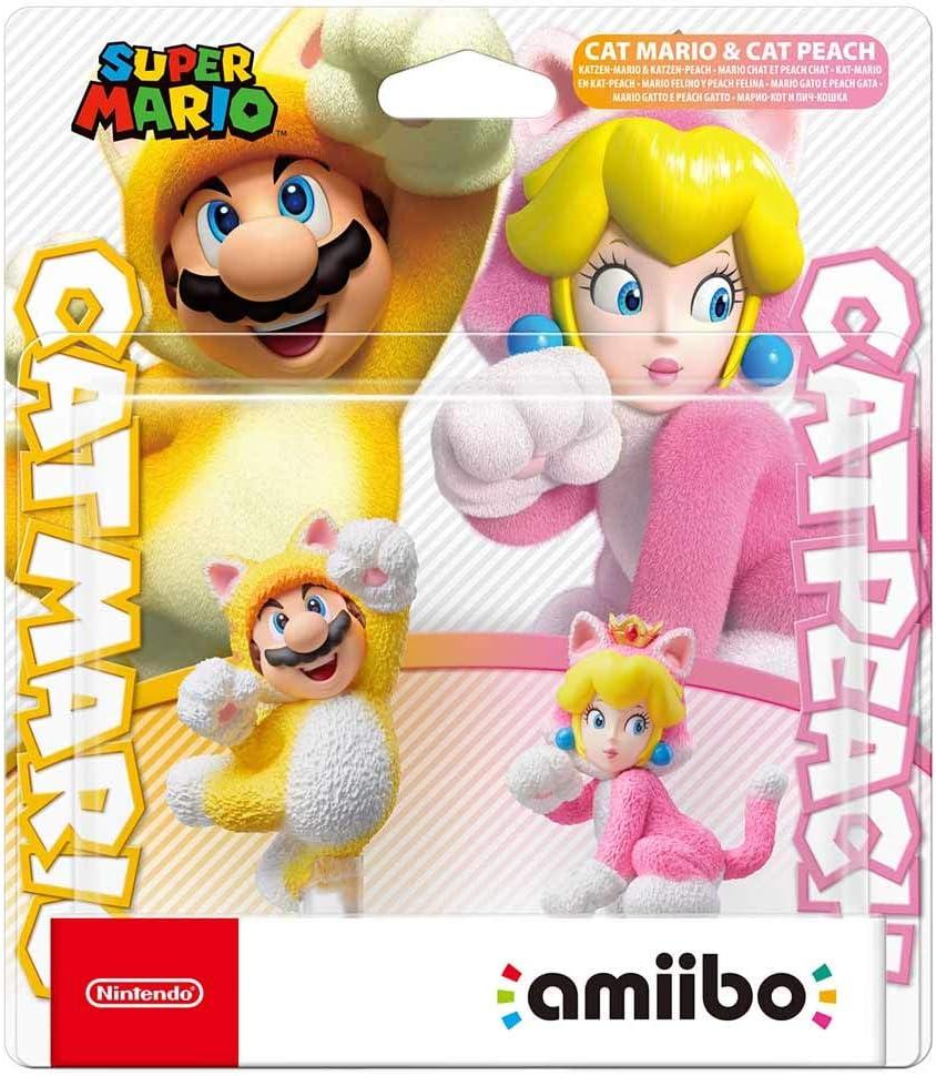 amiibo Mario Felino y Peach Felina (pack 2 en 1)