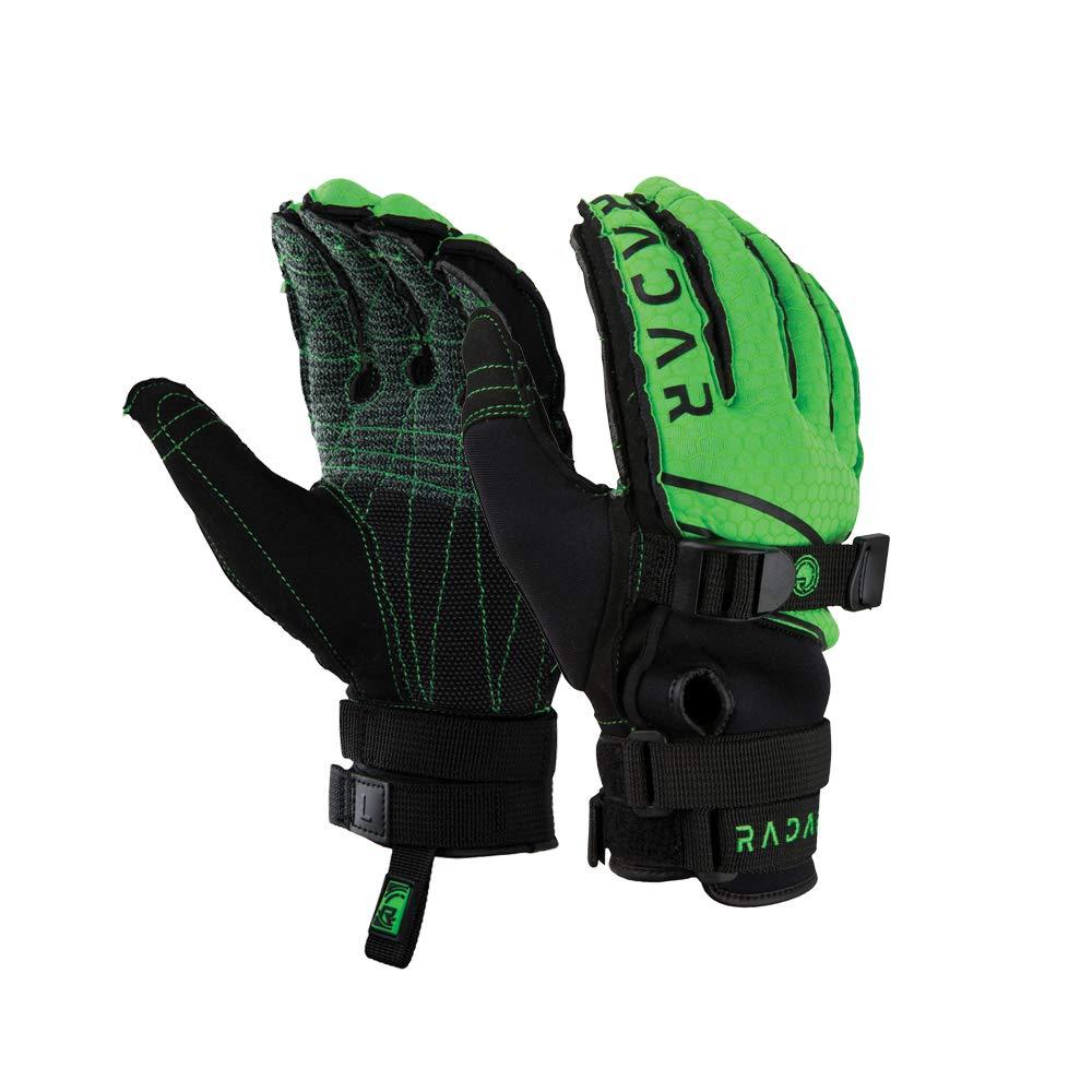 Radar Ergo K Inside-Out Waterski Glove Black/Green (XL) by Radar