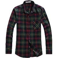 Men's Button Down Long Sleeve Plaid Flannel Shirt