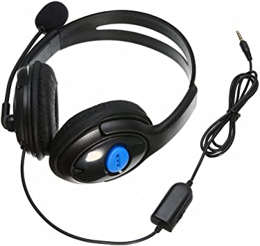 GAOHOU 3,5 mm estéreo Gaming Headset Auriculares + Micrófono para PlayStation 4 PS4 pc: Amazon.es: Electrónica