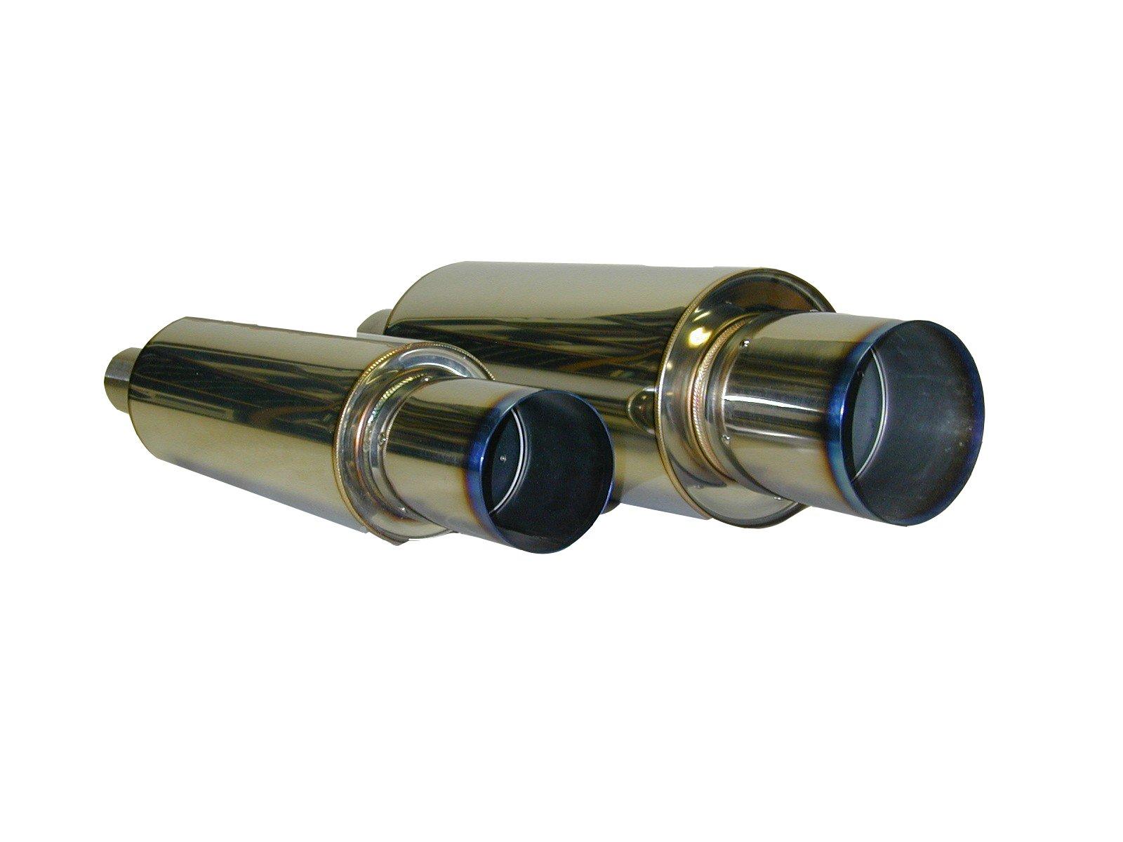 HKS 34005-FK001 Universal Stainless Hi-Power Ti Muffler by HKS (Image #1)