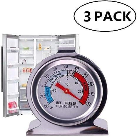 NIAGUOJI termómetro para refrigerador de congelador, termómetro de ...