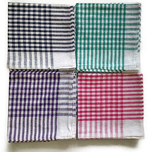 EaglesFord Kitchen Napkin/Cleaning Cloth/Table Wipe Pack of 12 with (Multicolour, Standard Size) 16 x16inch(Medium…