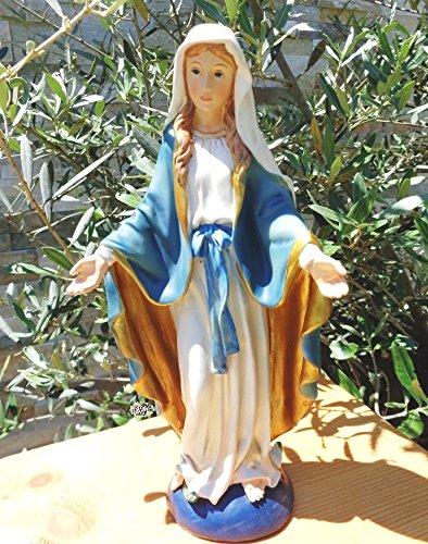 10 - 11 cm árbol - rezando MADONNA, personas Maria, con traje blanco y capa/ abrigo azul, ...