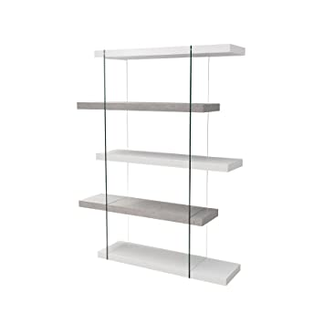 Invicta Interior Design Regal Schrank Onyx 140 cm edelmatt weiß ...