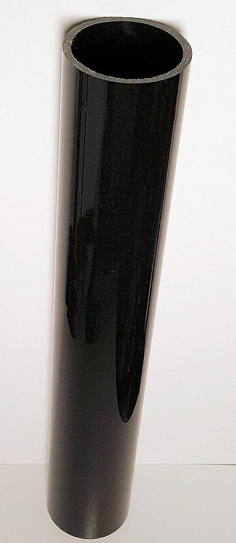 2 Inch Diameter /… 2 OD x 1 3//4 ID x 24 Long Opaque Black Acrylic Plexiglass Lucite Tube