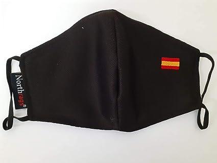 Mascarilla con bandera de España Lavable y Reutilizable 100% Poliester, Micro-fibra Pack 5: Amazon.es: Industria, empresas y ciencia