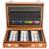 LLZJ Art Drawing Sets Children 174 Pcs Student School Coloured Design Brush Gifts Professional Supplies Stationery Creative Pencils Painting Kids Pen Watercolor