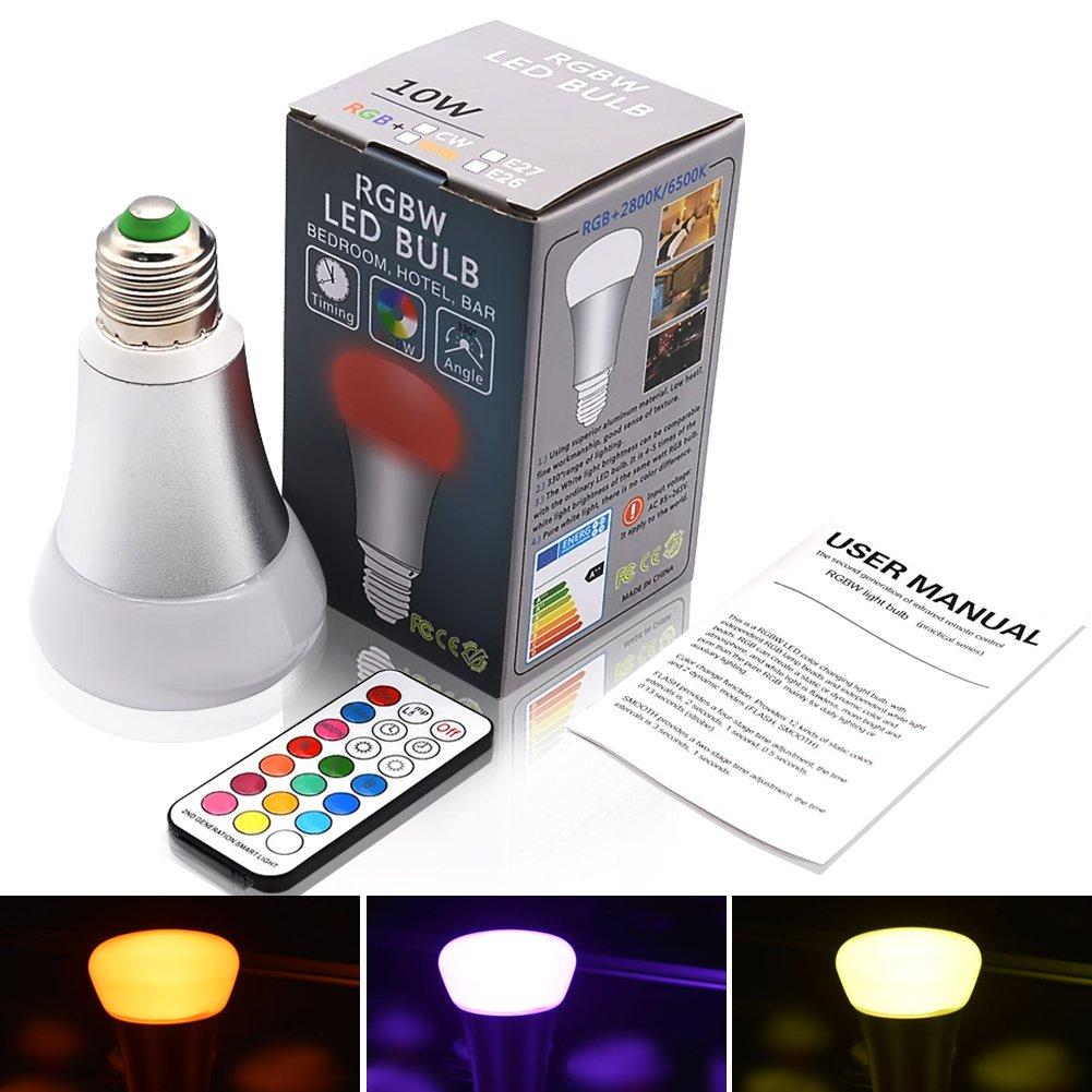 RGBW Bombillas 10W E27 LED Mú ltiples Colores Regulable Cambia l'arredo per l'illuminazione di Home Bar Party KTV AC 85-265V BR