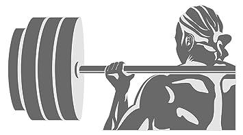 Pegatina de pared Atleta con mancuerna motivo deportivo para pegar gimnasio estudio de fitness sala de